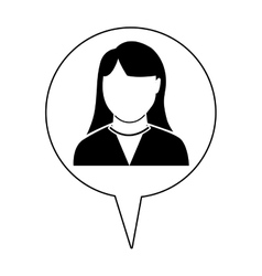 Avatar woman and infographic icon vector
