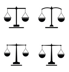 balance icon set vector image