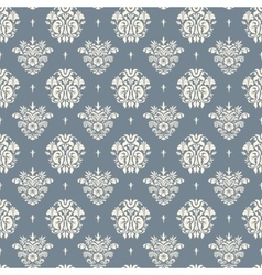 Baroque blue and beige background vector