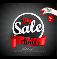 Big sale - black friday vector