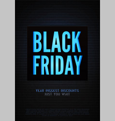 biggest black friday discounts poster vector image