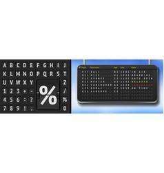 Black flip airport scoreboard template vector