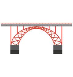 bridge structure made of metal vector image