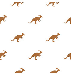 Brown parazavrolofus dinosaur pattern seamless vector