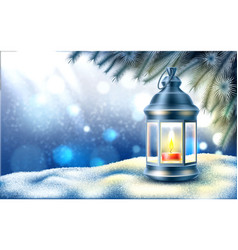 christmas new year holiday poster banner vector image
