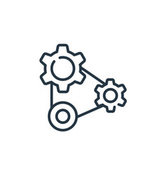 Cogwheels icon isolated on white background vector