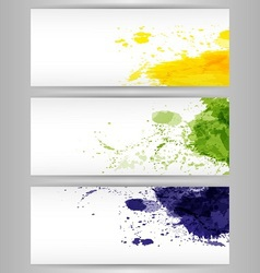 Color paint splashes background vector