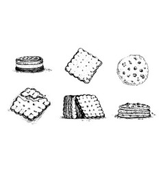 Cookies and crackers vector