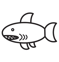 Cute animal shark - vector