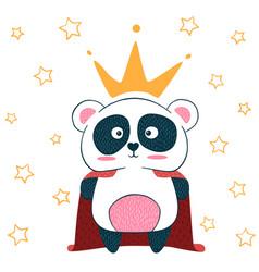cute little princess panda characters vector image