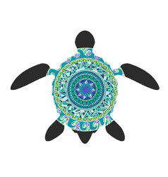 Decorative graphic turtle tattoo style tribal vector