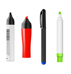 different marker color set vector image
