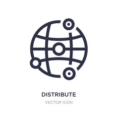 Distribute icon on white background simple vector