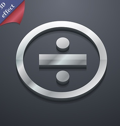 Dividing icon symbol 3D style Trendy modern design vector