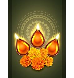 diwali diya festival vector image