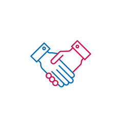 elections handshake outline colored icon can be vector image
