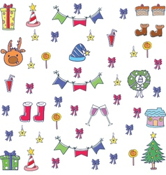 Element christmas in doodle set vector image