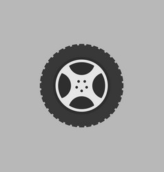 flat car rim isolated icon on gray vector image