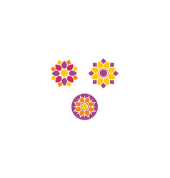 flower spa logo icon vector image