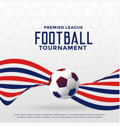 Football game championship tournament background vector