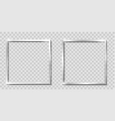 frames isolated realistic square metalsilver vector image
