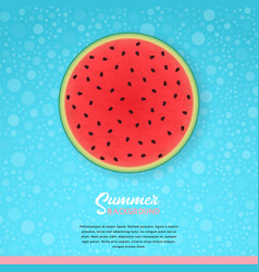 Fruity seamless pattern with watercolor vector