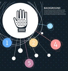 gloves icon with the background to the point and vector image