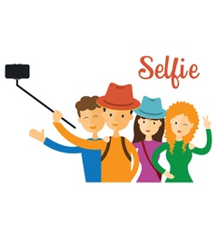 Group of Friend Selfie vector