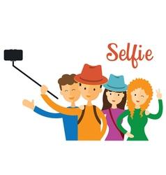 Group of Friend Selfie vector image