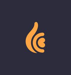 hand like symbol icon logotype creative ok arm vector image