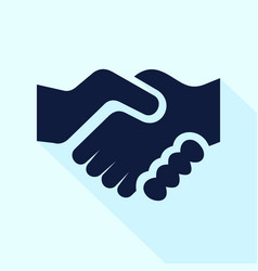 handshake icon flat style for vector image