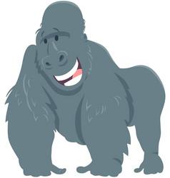 Happy gorilla ape animal cartoon character vector
