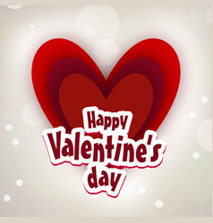 happy valentines day card with grey background vector image