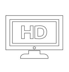 Hd tv icon design vector