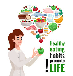 healthy eating advertising poster vector image