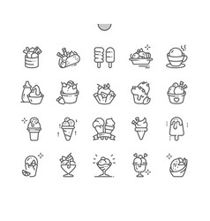 Ice cream well-crafted pixel perfect thin vector