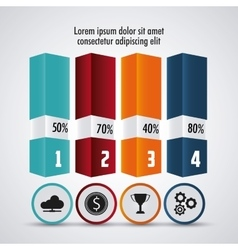 Infographic design Data concept Colorful vector