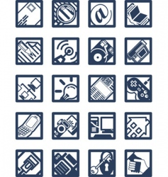 Internet computer icons vector