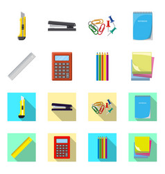 isolated object of office and supply symbol vector image