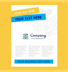 laptop title page design for company profile vector image