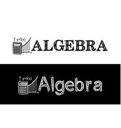 logo for algebra school subject vector image