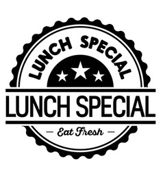 Lunch special label vector
