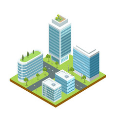 modern big city architecture isometric icon vector image