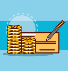 money saving concept vector image