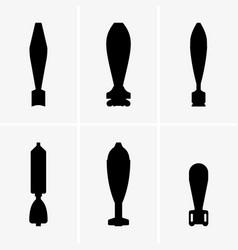Mortar shells vector