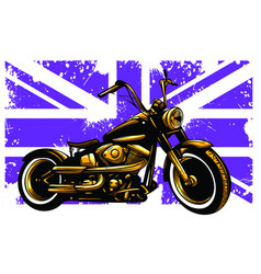 Motorbike and british flag and vector