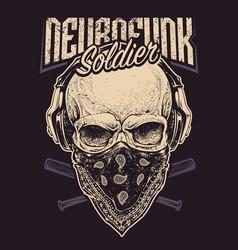 neurofunk soldier vector image