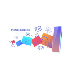 Online web banner digital advertising concept vector