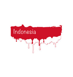 Painted indonesia flag indonesia flag paint drips vector