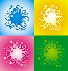 Pattern with original spiral structure vector